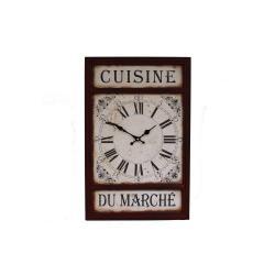 Nástěnné hodiny Antic Line Cuisine Du Marche