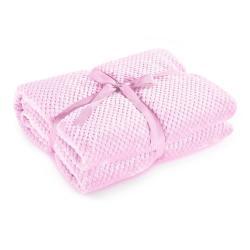 Pudrově růžová deka z mikrovlákna DecoKing Henry, 70x150cm