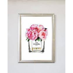 Nástěnný obraz v rámu Piacenza Art Flowers With Parfume, 23 x 33 cm