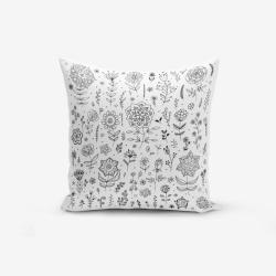 Povlak na polštář s příměsí bavlny Minimalist Cushion Covers Flower, 45 x 45 cm