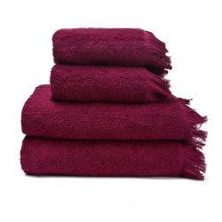 Sada 2 červených ručníků a 2 osušek ze 100% bavlny Bonami, 50x90 + 70x140 cm