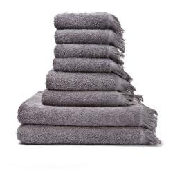 Sada 6 šedohnědých ručníků a 2 osušek ze 100% bavlny Bonami