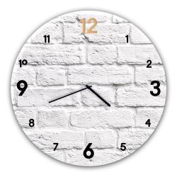 Nástěnné hodiny Styler Glassclock Brick, ⌀ 30 cm