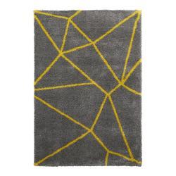 Šedo-žlutý koberec Think Rugs Royal Nomadic Grey & Yellow, 120 x 170 cm