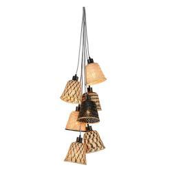 Závěsné bambusové svítidlo pro 7 žárovek Good&Mojo Kalimantan
