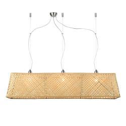 Světle hnědé bambusové závěsné svítidlo Good&Mojo Komodo