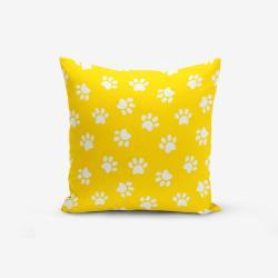 Žlutý povlak na polštář s příměsí bavlny Minimalist Cushion Covers Yellow Background Pati, 45 x 45 cm