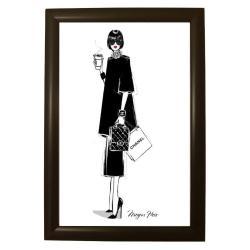 Plakát v černém rámu Piacenza Art Chanel, 33,5 x 23,5 cm
