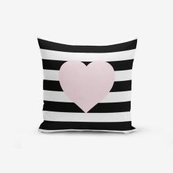 Povlak na polštář s příměsí bavlny Minimalist Cushion Covers Striped Pink,45x45cm