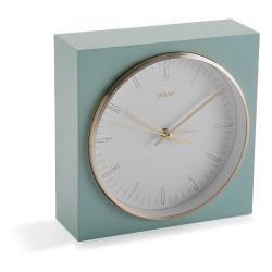 Pastelově zelené stolní hodiny Versa Mint