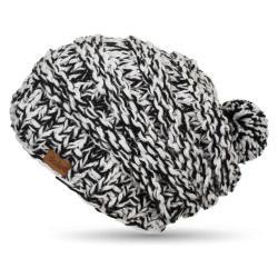 Ručně pletená čepice DOKE B&W