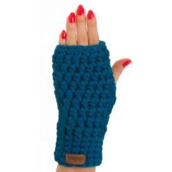 Modrá ručně háčkované návleky DOKE Malvin