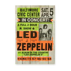Cedule z borovicového dřeva Really Nice Things Led Zeppeling, 60x40cm
