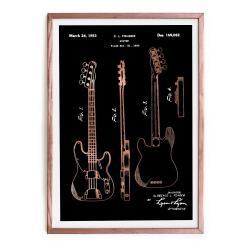 Zarámovaný plakát Really Nice Things Fender Guitar, 65 x 45 cm