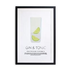 Zarámovaný plakát Really Nice Things Gin Tonic, 40 x 50 cm