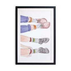 Zarámovaný plakát Really Nice Things Feet 40x60cm