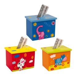 Sada 3 dřevěných kasiček Legler Animals