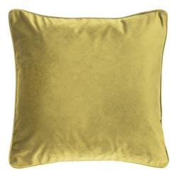 Zeleno-žlutý polštář Tiseco Home Studio Velvety, 45x45cm
