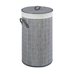 Šedý bambusový koš na prádlo Wenko Lilia