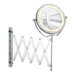 Chromované kosmetické zrcadlo s LED světlem Wenko Brolo