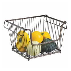 Kovový vykrojený košík na zeleninu iDesign York, 32x27,5cm