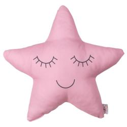 Růžový dětský polštářek s příměsí bavlny Mike&Co.NEWYORK Pillow Toy Star, 35 x 35 cm