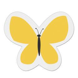 Žlutý dětský polštářek s příměsí bavlny Mike&Co.NEWYORK Pillow Toy Butterfly, 26 x 30 cm