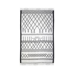Černobílý bavlněný koberec HSM collection Colorful Living Garrio, 60 x 90 cm