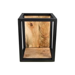 Nástěnná police s detailem z mangového dřeva HSM collection Caria, 25 x 35 cm
