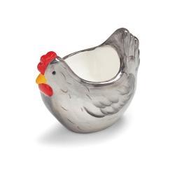 Stojánek na vajíčko ve tvaru slepice z glazované keramiky Cooksmart ® Farmers Kitchen