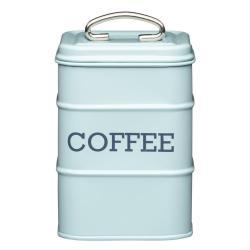 Modrá plechová dóza na kávu Kitchen Craft Nostalgia, výška 17 cm