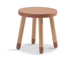 Růžová dětská stolička Flexa Dots, ø 30 cm