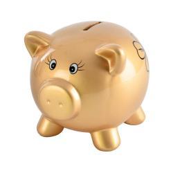Kasička ve tvaru zlatého prasátka Orion Golden Piggy