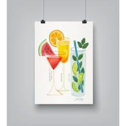 Plakát Americanflat Summer Cocktails by Cat Coquillette,30x42cm