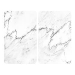 Sada 2 skleněných krytů na sporák Wenko Marble, 52x30cm