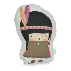 Polštářek z čisté bavlny Happynois Indian Girl, 40x30 cm