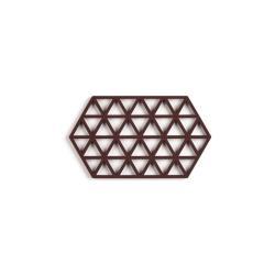 Červenohnědá silikonová podložka pod hrnec Zone Triangles Large