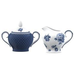 Set porcelánové cukřenky a mléčenky Creative Tops Vintage Indigo