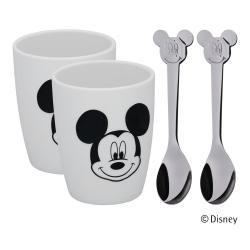 Sada 2 pohárků a 2 lžiček WMF Mickey Mouse