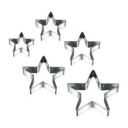 Sada 5 vykrajovátek ve tvaru hvězdiček Metaltex Cookie Cutters