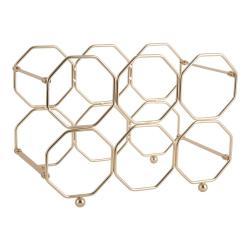 Kovový skládací držák na víno ve zlaté barvě PT LIVING Honeycomb