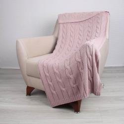 Růžový bavlněný přehoz Couture, 130 x 170 cm