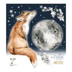 Nástěnná samolepka s liškou Dekornik Mr. Fox