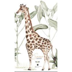 Nástěnná samolepka žirafy Dekornik, 77 cm