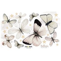 Sada nástěnných samolepek ve tvaru motýlů Dekornik, 80 x 50 cm