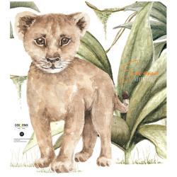 Nástěnná samolepka lvíčete Dekornik, 64 cm