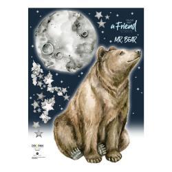 Nástěnná samolepka s medvědem Dekornik Mr. Bear