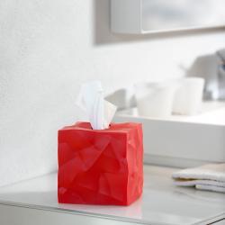Červený box na kapesníčky Essey Wipy Cube