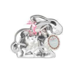 Stříbrná velikonoční forma ve tvaru králíčka Nordic Ware, 700 ml