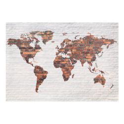 Velkoformátová tapeta Bimago Brick World Map Wall, 400x280cm